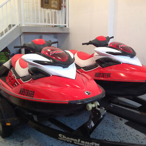 Pair of Red 2008 Seadoo RXP