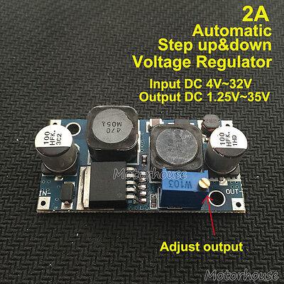 Automatic Mini Step up down Module 3.3V 5V 6V 9V 12V 24V Voltage Regulator Solar ()