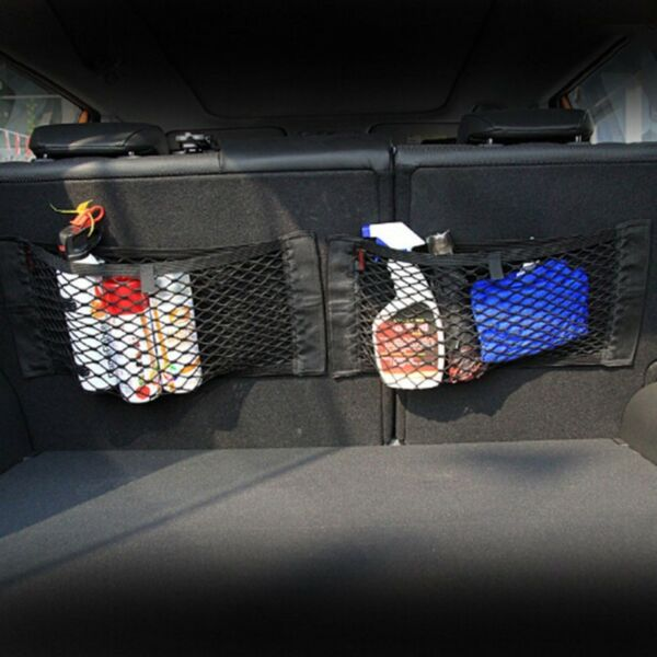 Car Resilient Double Layer Mesh Net Storage Net String Pocket
