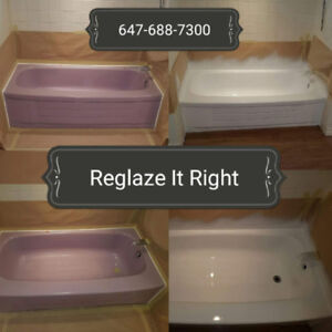 Reglazing Bathtubs and Tile, Grout Renewal and Tile Cleaning