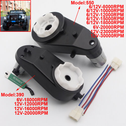 550 15000RPM Gearbox 12V Electric Motor Gearbox Kids Ride On Cars Motorcycles on