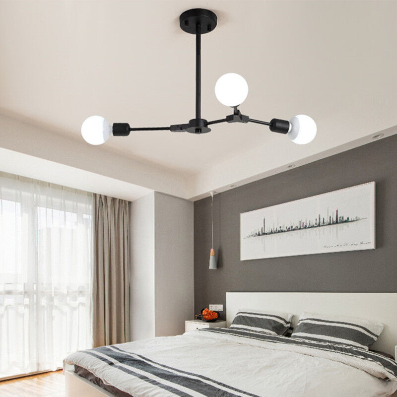 Details about Kitchen Pendant Lighting Modern Ceiling Lights Black Lamp Bedroom Pendant Light