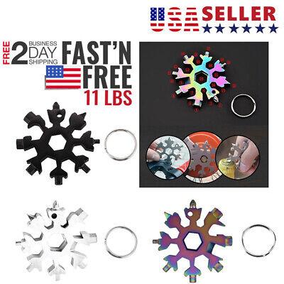 Snowflake 18-1 Multi Tool Snow Flake Steel Shape Flat Cross Household Hand Tool