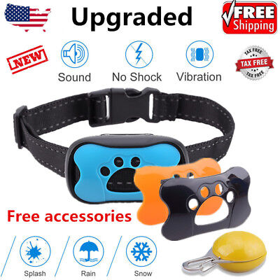 No Shock Dog Anti Bark Collar Pet Train Waterproof Sound Vibration Stop Barking