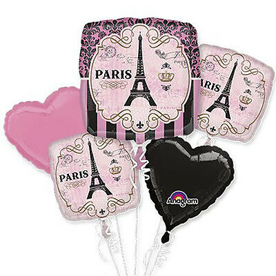 A Day in Paris Balloon Bouquet Wedding Graduation Birthday Party Supply EIFFEL