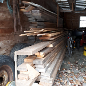 ASSORTMENT OF AIR DRIED ROUGH 2 INCH LUMBER