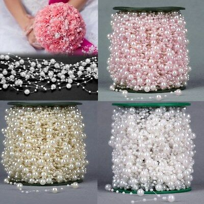 5M Wedding Pearl Acrylic Bead Plastic Garland Rope Wedding Party Decoration ](Pearl Garland)