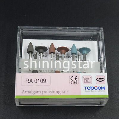 Dental Toboom Amalgam Polishing Kits Ra 0109 Low-speed Burs Cups Silicone Rubber