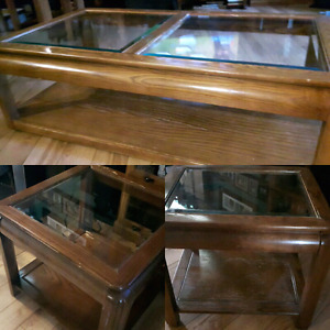 3 piece Set - 1 Coffee Table and 2 Side Tables