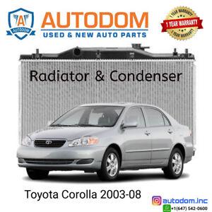 New Condenser and Radiator Toyota Corolla 2003-08