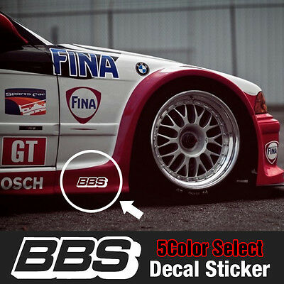 BBS Speed Mania Fashion Decal Sticker (2Pcs) 100mm x 33mm For All Vehicle