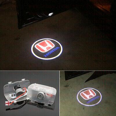- No Drill CREE LED Door Shadow Projector Logo Lights HD For Honda Accord 2013-19
