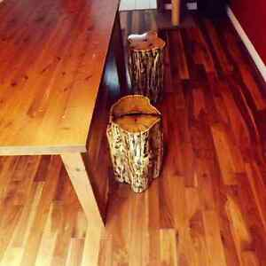 RUSTIC LIVE EDGE STOOLS, ACCENT PIECE, COFFEE TABLE  Kitchener / Waterloo Kitchener Area image 8