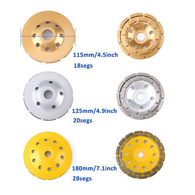 115125180mm Diamond Grinding Wheel Concrete Cup Disc Rotary Masonry Stone Tool