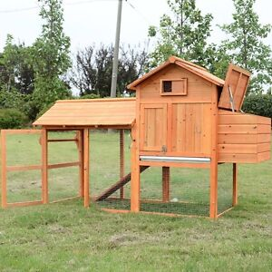 2-3 hen Chicken Coop with Nesting Box and Run