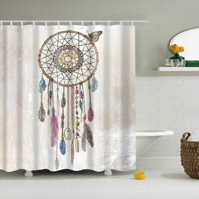 Butterfly Dreamcatcher Polyester Waterproof Bathroom Fabric Shower Curtain](Butterfly Bathroom)