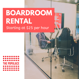 The Populace | Short-Term Boardroom Rentals