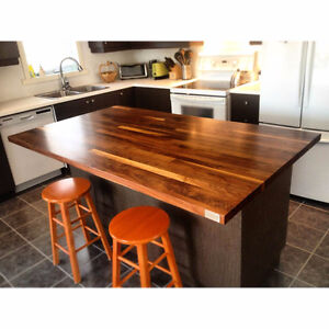 Comptoir en bois sur mesure / Custom wood countertops