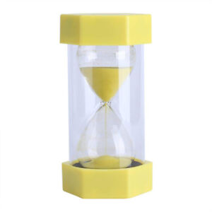 Hourglass Sand Timer - Yellow - 3 Minutes - Brand New