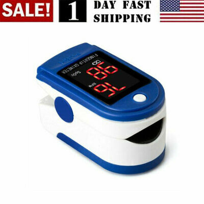 Finger Tip Pulse Oximeter Blood Oxygen Meter Spo2 - Ships Within 48 Hours Us