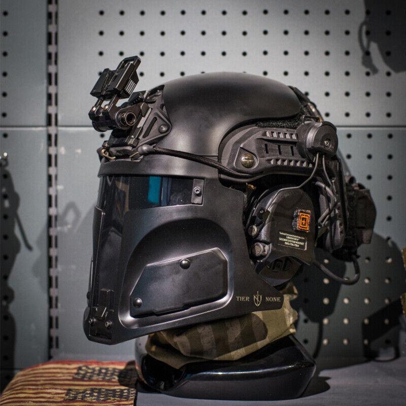 Desert Raider Bounty Hunter Helmet Mask for Ops-Core FAST (mask only) BLACK