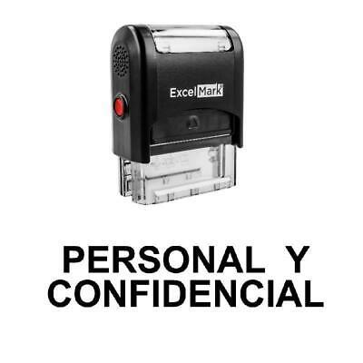 Personal Y Confidencial Stamp - Self-inking Black