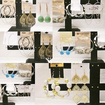 700 units of Assorted Dangle / Stud / Hoop Fashion Earrings Wholesale Lot