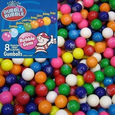 """2 LB SEALED BAG DUBBLE BUBBLE GUM BALLS -1"""" ROUND VENDING GUMBALLS"""