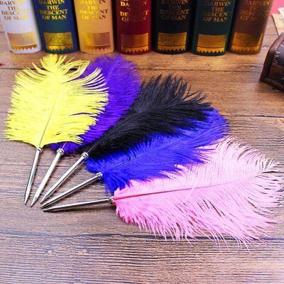 Cute Ostrich Feather Ballpoint Pen Novelty Signature Pen Office School Supplies - Novelty Office Supplies