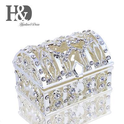 New Rhinestone Treasure box Jeweled Trinket Box Bejeweled Box Wedding Xmas Gifts ()