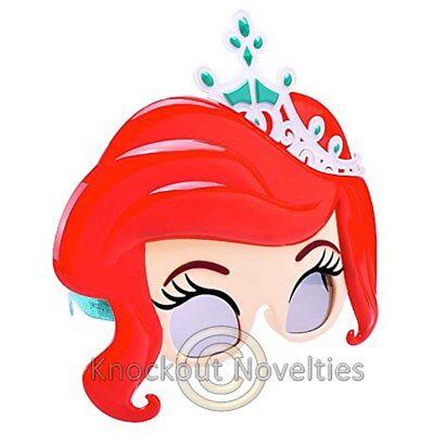 Sun-Staches: Disney - Little Mermaid Ariel Funny Novelty Costume Sun Glasses ](Funny Mermaid Costume)