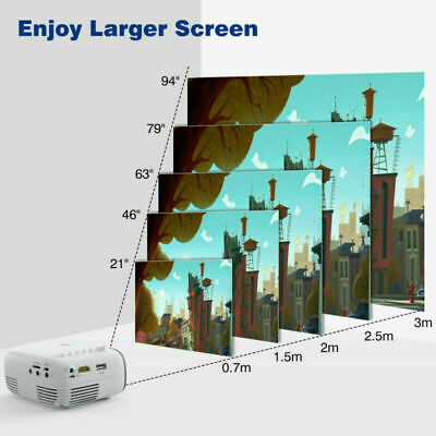 YG200 Mini TFT LCD LED Projector Full HD 1080P Home Theater Cinema USB AV HDMI
