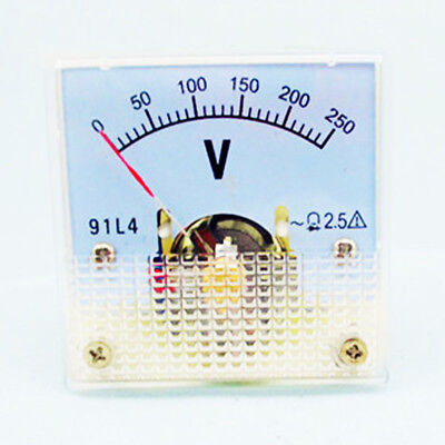1pc 91l4 Rectangle Plastic Analog Voltmeter Voltage Meter Ac 0-250v Class 2.5
