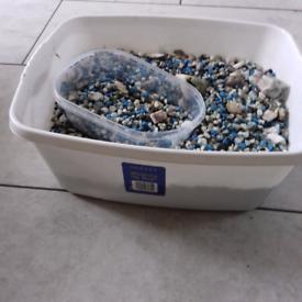 Aquarium gravel. Multicolor
