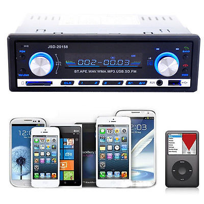 Bluetooth Car Audio Stereo In-Dash MP3 Player Radio USB SD AUX Input FM Receiver on Rummage