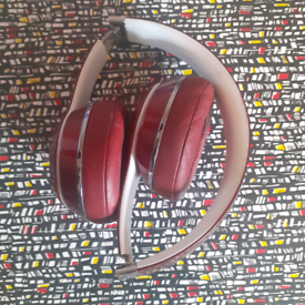 Beats solo headphones red and case
