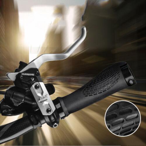 2 Pcs Bar End Handlebar Grips Bicycle Mountain Bike MTB Ergonomic Black New 6L