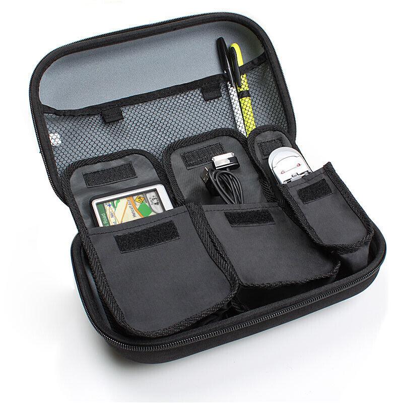 USA GEAR Hard Shell 11 Electronics Carrying Case - Black