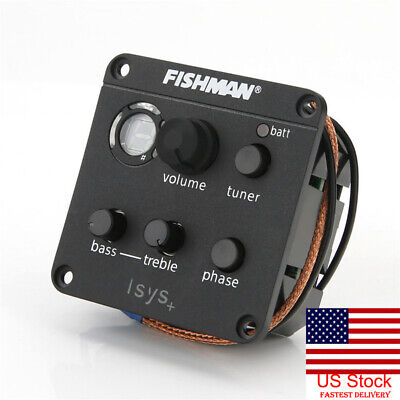 Fishman Presys Blend 4-Band EQ Tuner Preamp Pickup W/Mic for Acoustic Guitar