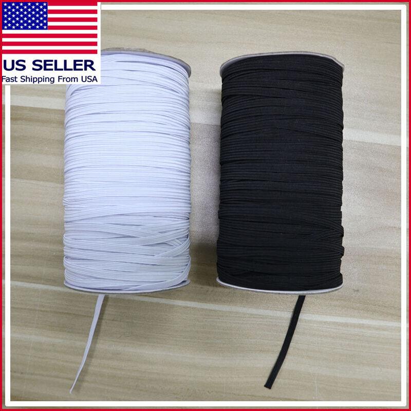 "#1 Elastic Band 1/5"" 5mm 1/8"" 3mm Width Sewing Trim String DIY 5 to 1000 Yards"