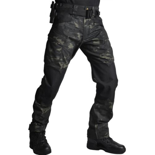 Mens Military Pants Army Combat Tactical Cargo Trousers Hiki
