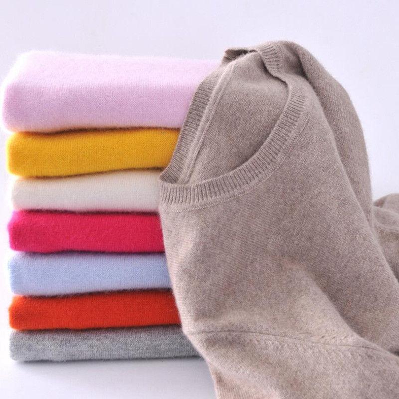 Damen Strickwaren stricken Cashmere Sleeve Warmer Pullover Pullover Top Xmas Hot