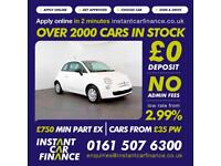 Fiat 500 Pop Hatchback 1.2 Manual Petrol LOW RATE FINANCE AVAILABLE