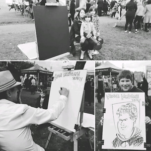 the wedding art and caricature show
