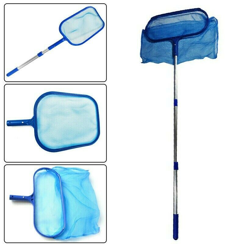 Swimming Pool Deep Leaf Net Cleaning Skimmer net Telescopic Pole Accessories US