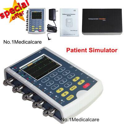 Ms400 Patient Simulator 12 Lead Ecg Testor Touch Screen Resp Temp Ibp Optional