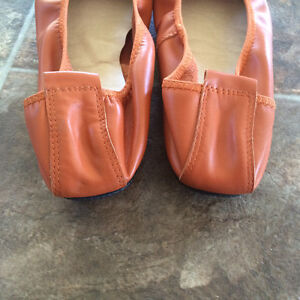 Orange leather CC ballet flats Cornwall Ontario image 7