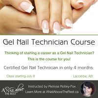 Gel Nail Technician Program held in Central Albertas
