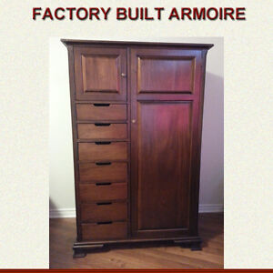 A QUALITY CUSTOM BUILT ARMOIRE MANUFACTURED IN CANADA