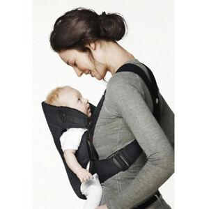 Porte bébé original BABYBJÖRN en coton rouge/noir